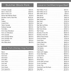 Price List 1-3
