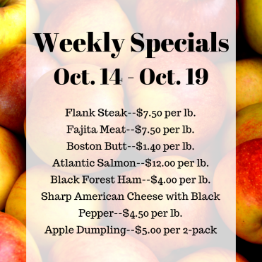 Weekly Specials Oct. 14 - IG