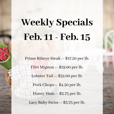 Weekly Specials Feb. 11 - Feb. 15 IG